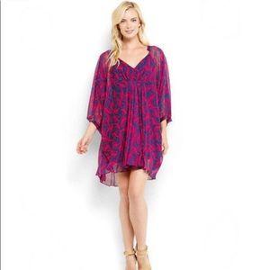 Diane Von Furstenburg Fleurette Pink Wave Dress 10